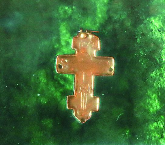 Крест преподобного Сергия (хранится в Серапионовой палате)