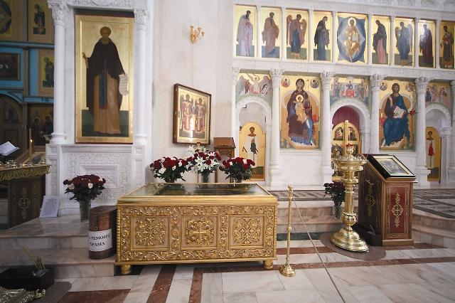 Мощи свв. Кирилла и Марии, родителей св. Сергия Радонежского. Покровский монастырь в г. Хотьково