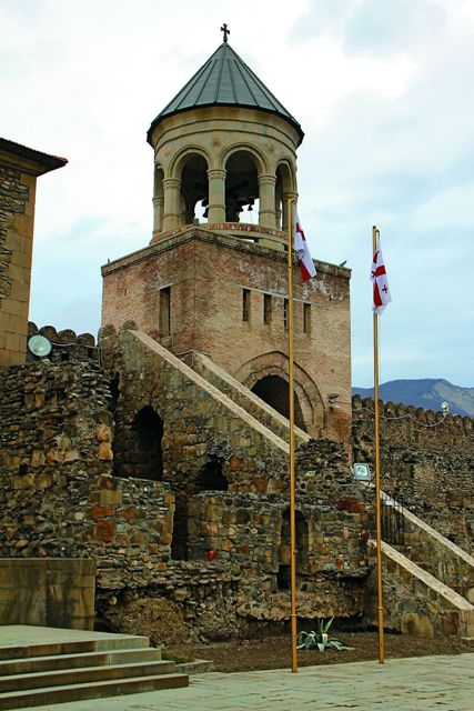 Крепостная башня на стене вокруг собора Светицховели