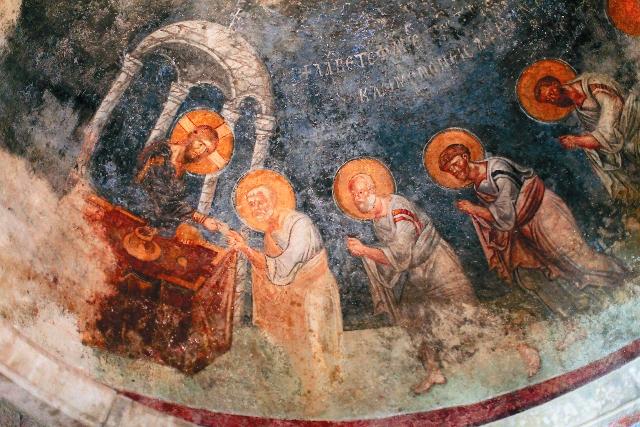 Фреска храма в Демре, где служил Святитель