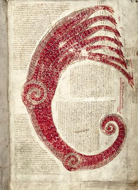 И другое знамение явилось на небе: вот большой красный дракон с семью головами и десятью рогами, и на головах его семь диадим. (Откровение 12, 3)