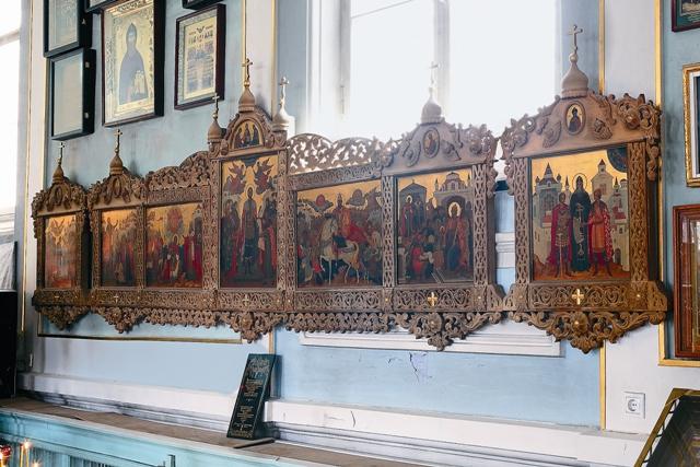 Палехский иконостас, подаренный Патриархом Алексием II