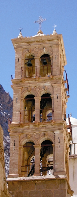 Монастырская колокольня (колокола – дар российского императора Александра II)