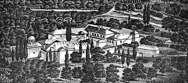 Первые русские появились на Афоне в XI веке. Они основали скит Ксилургу.