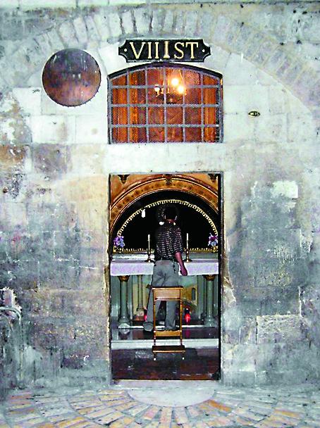 Коптская часовня, построенная на месте седьмой остановки Крестного пути