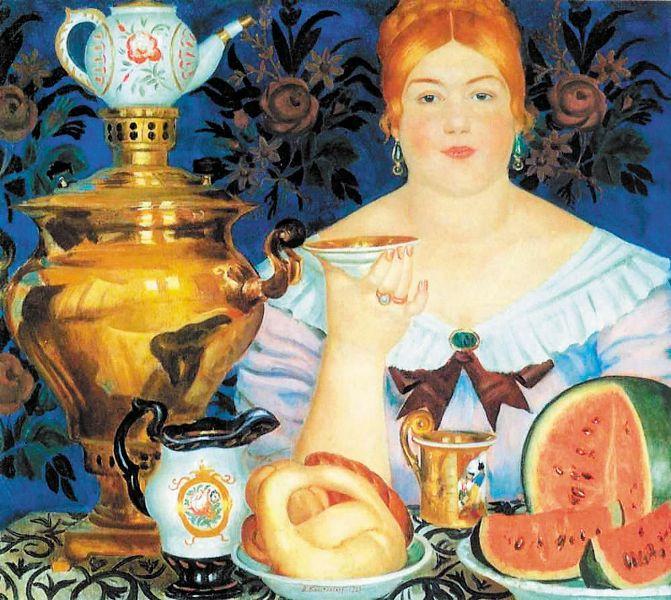 В стародавние времена на Руси чай был неотделим от самовара