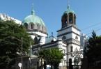 Великолепное здание в русско-византийском стиле в высоту достигало 35 метров, крест на его куполе был виден за 20 километров при подъезде к столице