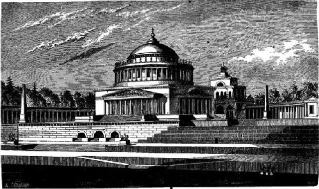 Храм Христа Спасителя на Воробьевых горах. Проект А.Л. Витберга, 1817 год