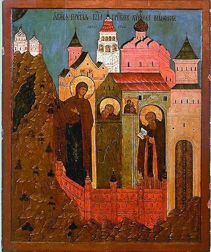 По Преданию Сама Пресвятая Богородица указала место, где следовало построить монастырь – Вологодское Белозерье