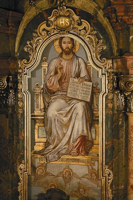 Сохранившаяся  православная фреска Иисуса Христа в апсиде собора Святителя Николая