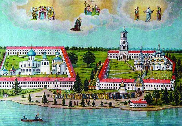 План Свято-Троицкого Александро-Свирского монастыря