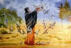 Однажды глубокой ночью, когда Преподобный молился о своих учениках, раздался голос: «Господь услышал молитву твою – смотри: так умножится число учеников твоих». И увидел Сергий, что огромная стая птиц слетелась к его келье.