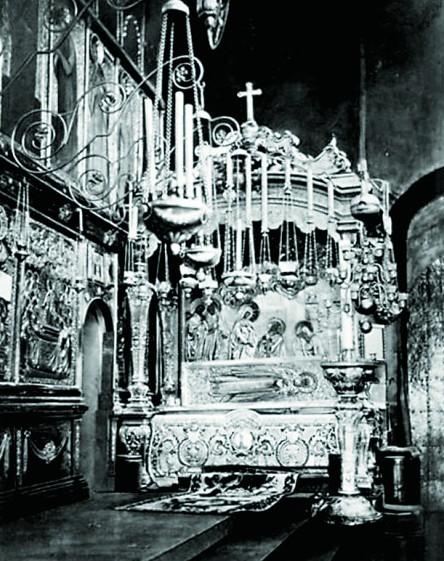 Рака с мощами прп. Сергия. Фото XIX века