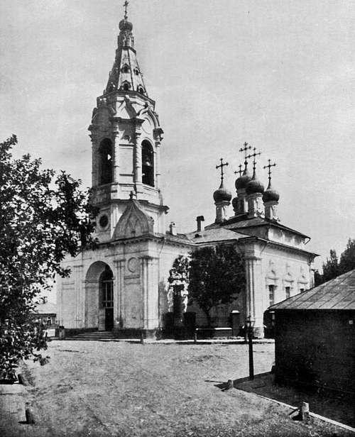 БЫЛО: Конец XIX века. Храм Благовещения Пресвятой Богородицы на Бережках.