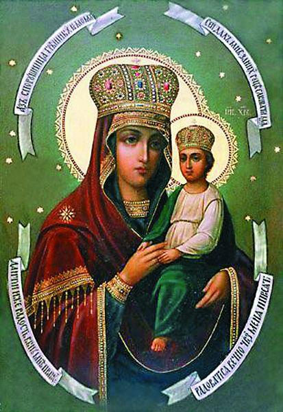 Главная святыня храма – икона Божией Матери «Споручница грешных» в одноименном приделе. Ее пожертвовали храму в 1848 году.