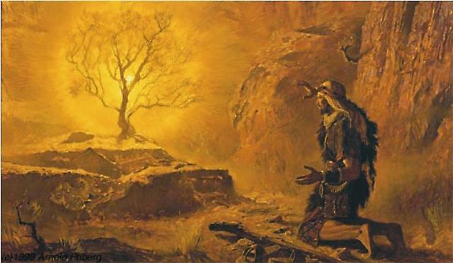 Святой Моисей разговаривает с Богом