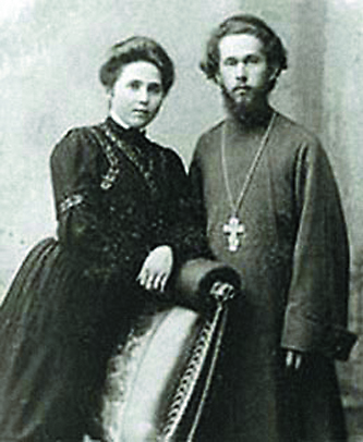 Протоиерей Николай Лавров с супругой
