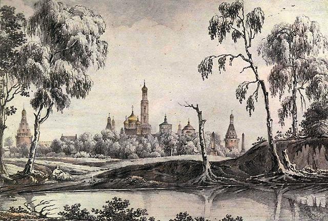 Исповедоваться и причащаться Дмитрий Донской и великая княгиня Евдокия приезжали в Симонов монастырь